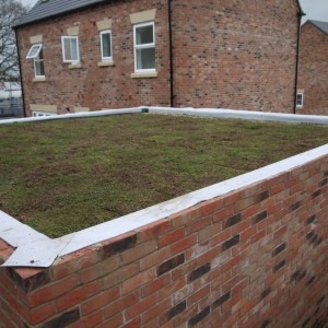 Lots Of New Garage Roofs On  A New Housing Estate Near Sheffield