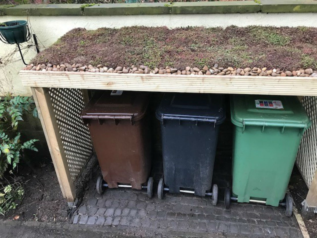Diy Bin Store Green Roofs Naturally Otley